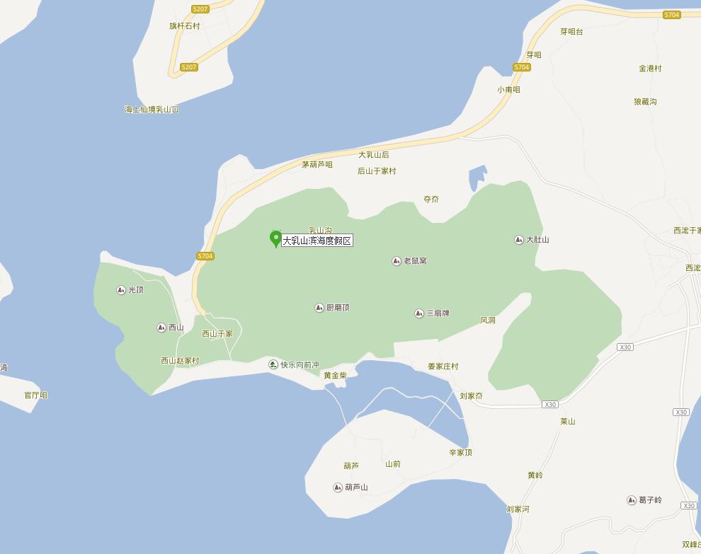 青岛手绘地图 畅游